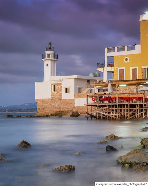 Watching the storm approaching - The lighthouse of Tyre, Lebanon. lebanon... (Tyre, Lebanon)