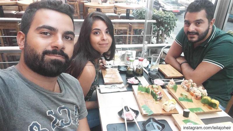 Les trois mousquetaires... tb sushi lebanontimes lebanonspotlights ...