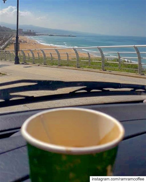 Every moment is all I need coffee, nothing more breathtakingview... .... (Ramlat Al Bayda', Beyrouth, Lebanon)