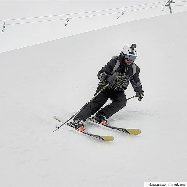 There's no bad snow, a good skier can ski whatever was the snow conditions... (Mzaar Ski Resort Kfardebian)