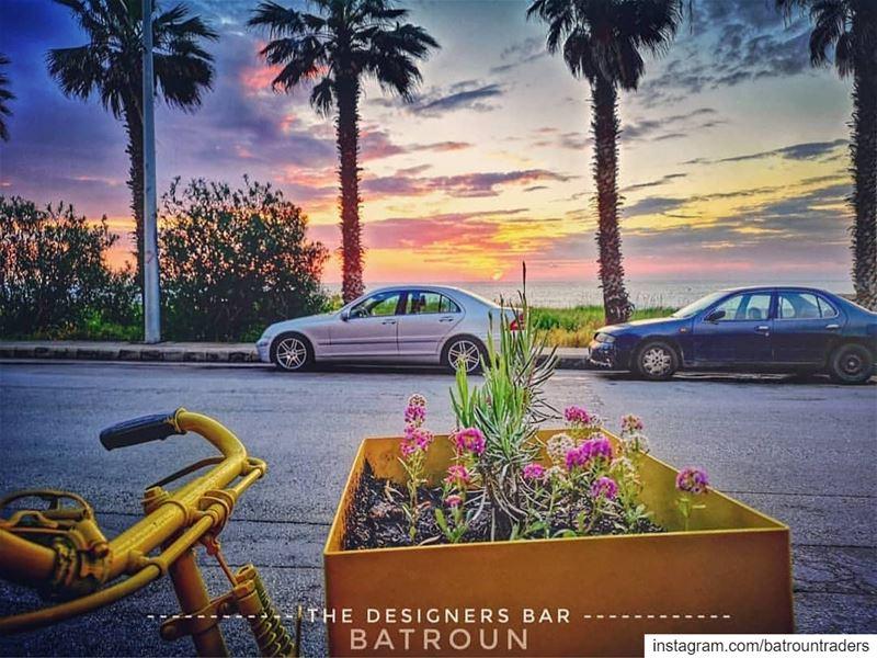 batroun designers bar sunset البترون_سفرة sea mediterraneansea ... (Batroûn)