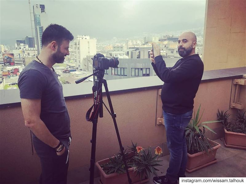 رووووووح 😉😉 shooting advertising huawei mobile hichamhaddad fun ... (Beirut, Lebanon)