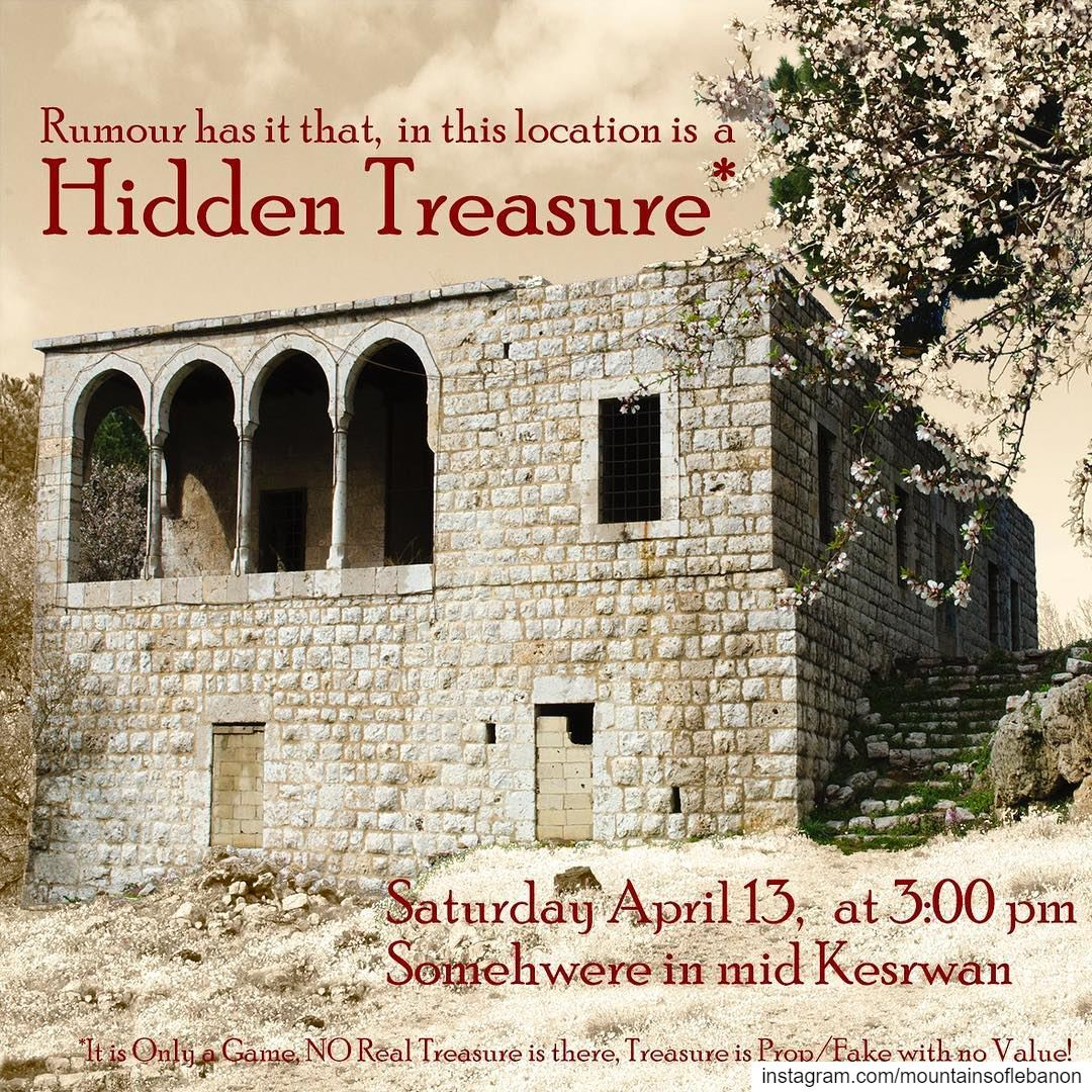 We just got this Rumour that there is a Hidden Treasure in/around that...