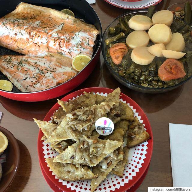 Grilled Salmon vs Kebbet Samak vs wara2 3enab 😋😋 akid chway chway men... (Zgharta)