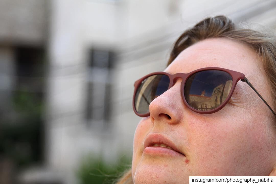 {Linked} photography Lebanon canon7d portraits sunglasses reflection...