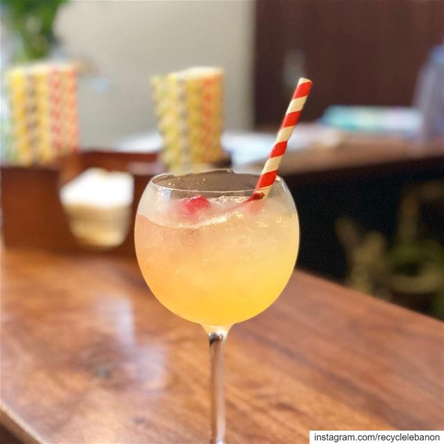 The cherry on top, @bardobeirut offers paper straws and has set up ...