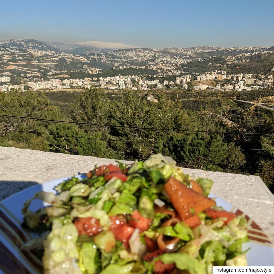 fattoush lebanesesalad salad fresh vegetables freshvegetables ...