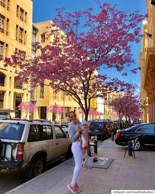 Beautiful day walking around Beirut with my little love Ayva 🌸👼💕 ... (Downtown Beirut)