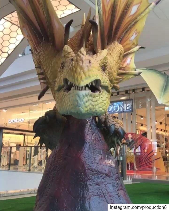 The Legends of Dragons robotic exhibition now @citycentrebeirut from April... (City Centre Beirut)