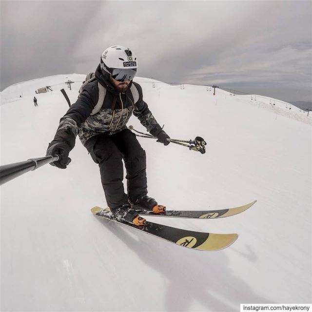 W. H. E. E. L. I. E 🛫⛷️... skiseason skiing skiaddict skilife... (Mzaar Ski Resort Kfardebian)