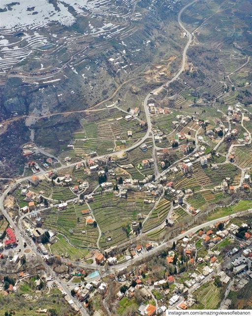 Faraya village between Kfardebian and Chabrouh(Faraya) mountains, a... (Faraya, Mont-Liban, Lebanon)