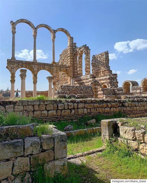 🇱🇧🇧🇷 Anjar, construída no século 8, é uma testemunha notável da... (`Anjar, Béqaa, Lebanon)