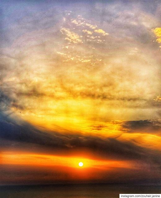 lebanon beirut behappy sunset sun sea sky clouds spring nature ... (Damour, Lebanon)