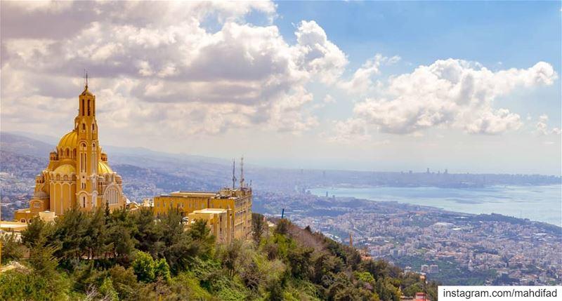 Harissa Beirut clouds mountains lebanon Pysglb Nature Landscape... (Harîssa, Mont-Liban, Lebanon)