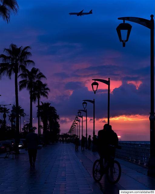 Purple sundown ☁️....... landscapephotography naturephotography... (Beirut, Lebanon)