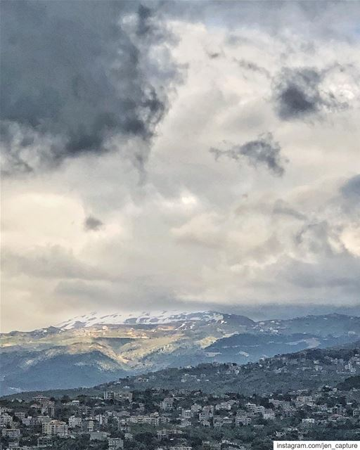 """When the snows fall and the white winds blow, the lone wolf dies but the... (Ballouneh, Mont-Liban, Lebanon)"