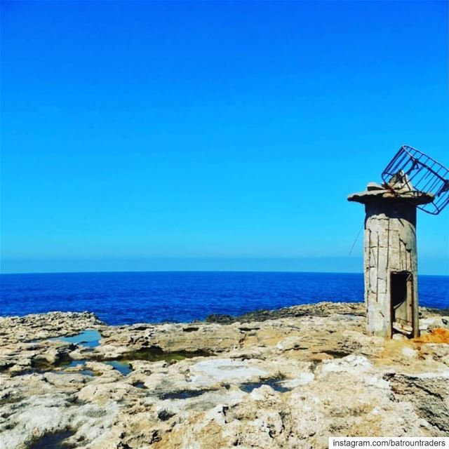 batroun البترون_سفرة old lighthouse batrounbeach batrouncoast sea ... (Batroûn)