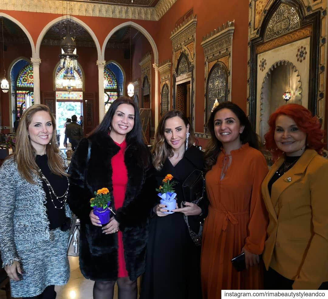 With beautiful ladies @sayidatynet event tb women womeninspiringwomen ... (Villa linda Sursock)