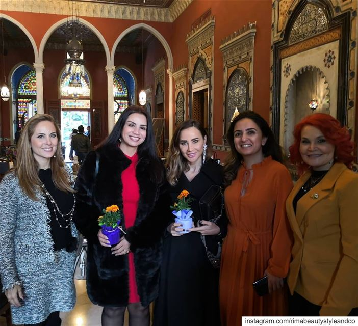 With beautiful ladies @sayidatynet event tb women womeninspiringwomen ... (Villa linda Sursock)