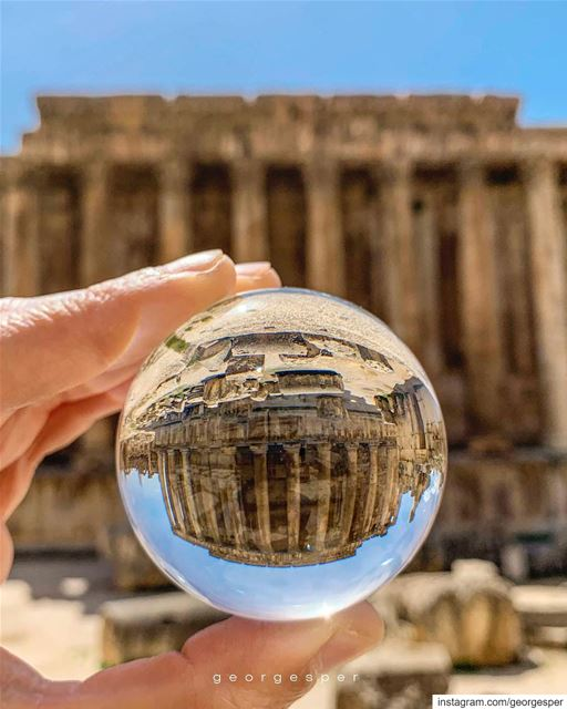 Temple of Bacchus in a ball • Baalbek Lebanon 🇱🇧........ (Baalbek , Roman Temple , Lebanon)