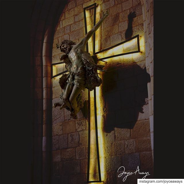 No greater LOVE 💟✝️💜.. love  christ  cross  goodfriday  lent  pray ... (Church Mar Fawka Ghadir)