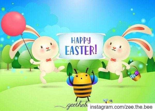 Happy Easter from Zee the 🐝... easter happyeaster easterbunny ...