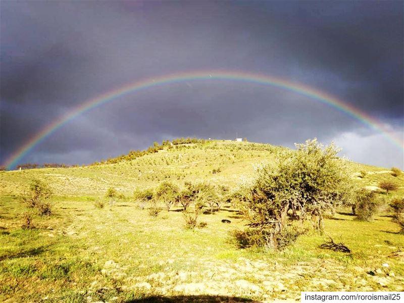 rainbow spotlightlebanon inlebanon spting rain photography photographers... (Lebanon)
