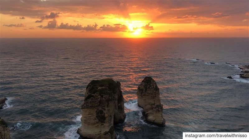 Wow what a view! 🌅 Would you ever leave home if you had this view from... (Raoucheh, Beirut)
