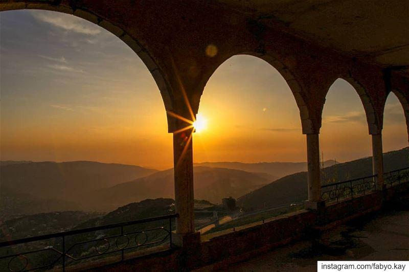 lebanon falougha sunset arcades architecture oldhouses canonme ... (Falougha, Mont-Liban, Lebanon)