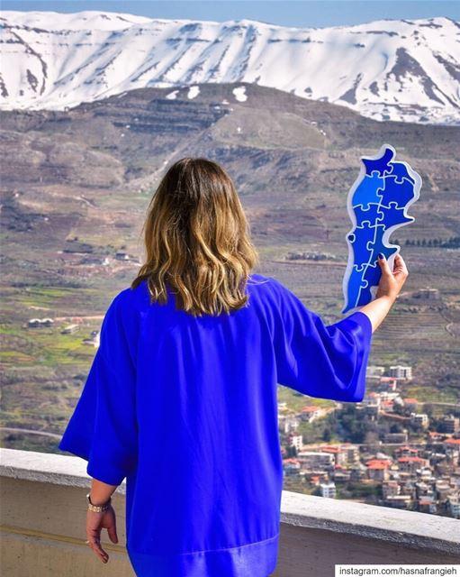 With infinite love & respect, I raise this BlueForAutism Map of Lebanon... (Saydet El Hosn - Ehden)