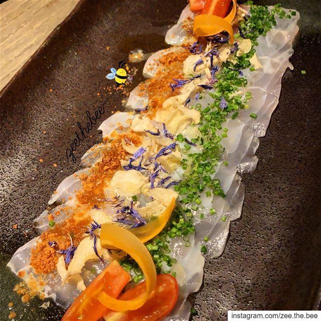 White fish carpaccio 😋😍... whitefish carpaccio seafood ... (Clap Beirut)