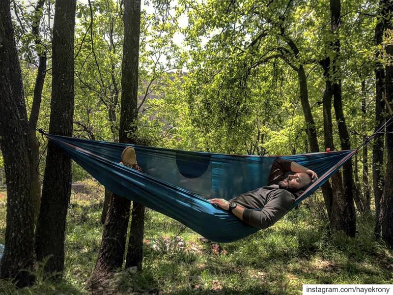 Hang and chill 🏕️🌲... Outdoorlife  hammocklife  lebanonoutdoor  hike...