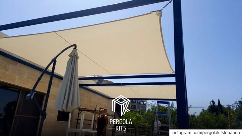 Keep it Simple with One Piece Of Fabric Roofing!  PergolaKitsLebanon...