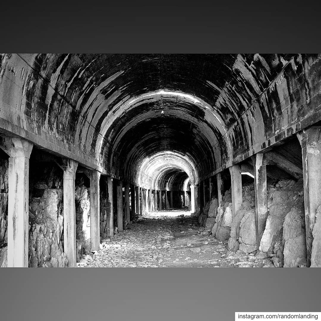 Through the tunnel! tunnel train blackandwhitephotography Lebanon ... (Dahr El Baïdar, Mont-Liban, Lebanon)