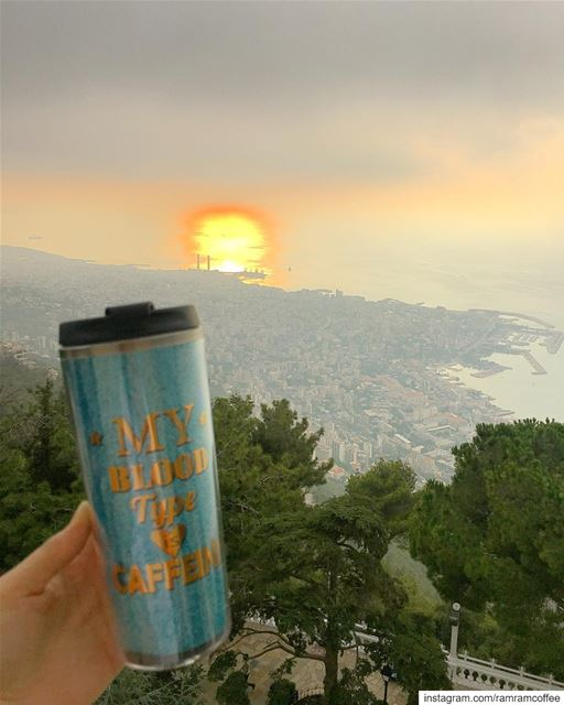 I guess this one of the most pleasant of sunset coffee ....... (Saydet harissa سيدة حريصا)