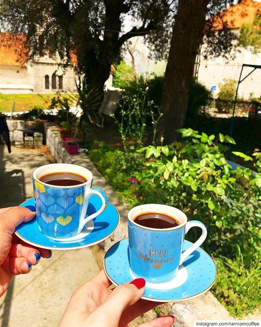 حكاية الصباح تبدأ بفنجان قهوة... ramramcoffee turkishcoffee ... (Bikfaïya, Mont-Liban, Lebanon)