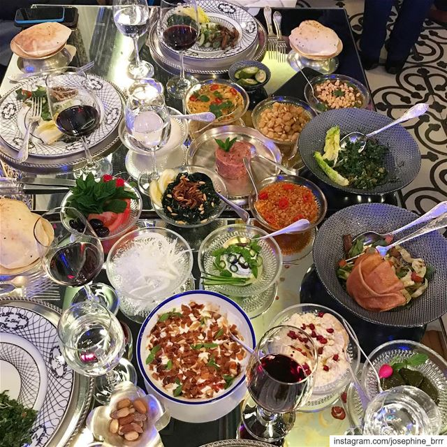 Lebanese cuisine at its flamboyant best.... beiruting  emsherif ... (Em Sherif)