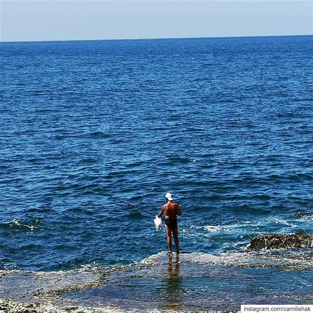 lebanon livelovelebanon beirut livelovebeirut sea summer blue horizon sky... (Beirut, Lebanon)
