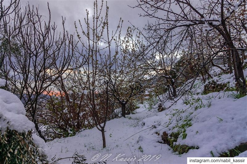 sunset  sky  snow  clouds  ig_great_shots  inspiring_photography_admired ... (Baskinta, Lebanon)