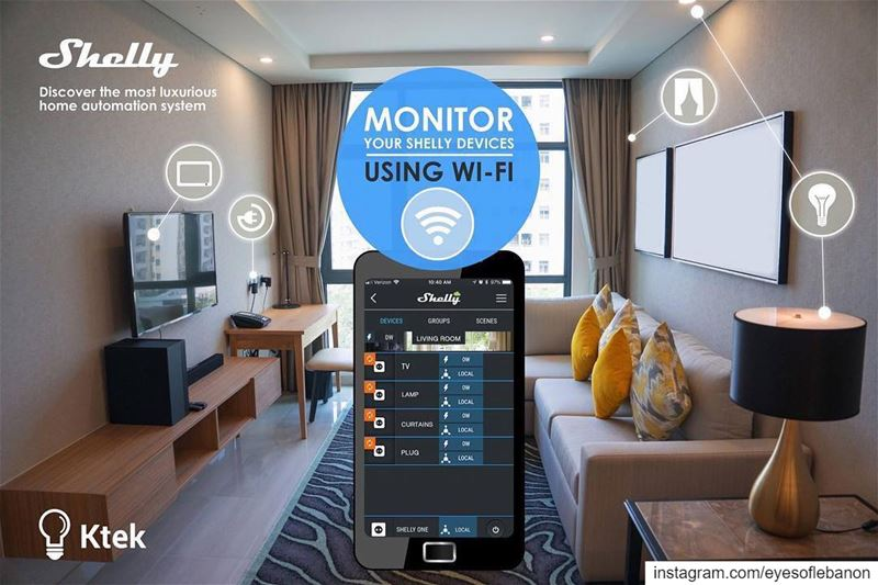Turn your home into a smart home with Shelly !Connect & Control your home... (Beirut, Lebanon)