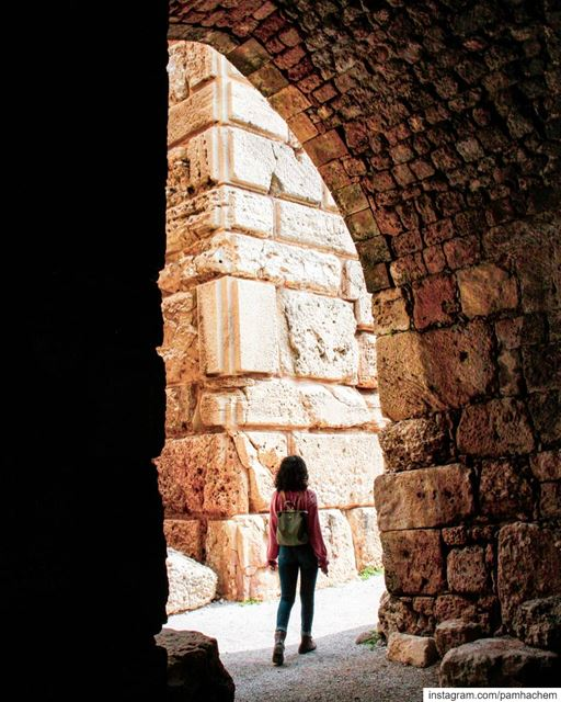 Walking inside Byblos Castle that was built by the Crusaders in the 12th... (Byblos, Lebanon)