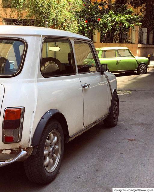 Beauties 💚 minicooper mini cars classiccars minicars beirut ... (Achrafieh, Lebanon)