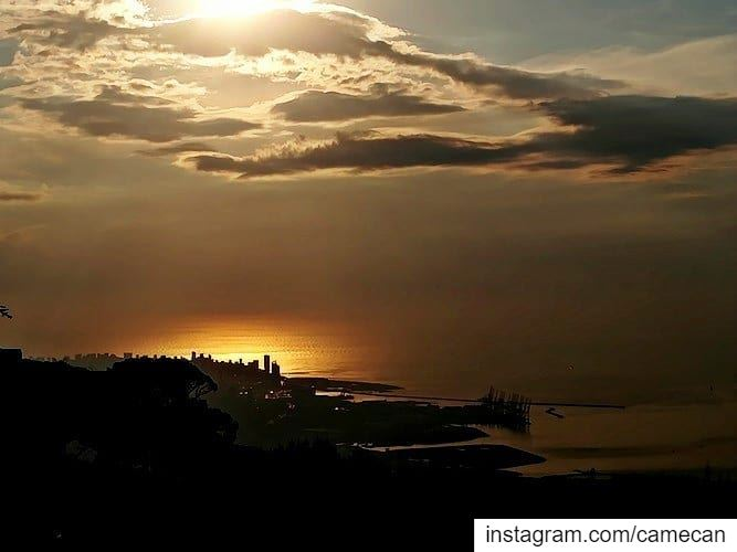 lebanon sunset view sky clouds sea livelovelebanon livelovebeirut ...