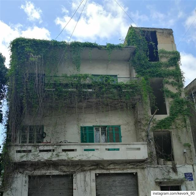 Old houses are full of memories and that's why they resist to collapse..... (Beirut, Lebanon)
