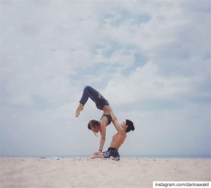 • Scorpion pose •... acroyoga beachlifestyle beachaddict beachyoga ...
