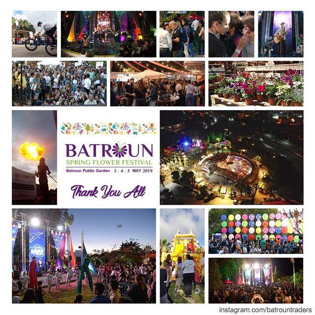 thank_youشكراً لكم فرداً فرداً.شكراً للحضور الذي أثبت اننا شعب نعشق الحي (Batroun Spring Flower Festival)