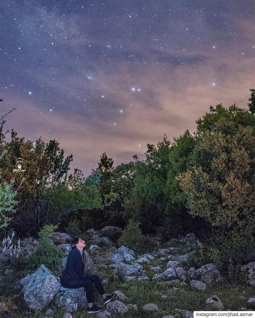 When Stargazing is life!!!🤓... (جبال لبنان بيروت)
