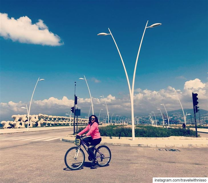• B E I R U T • by B I K E w the bestie on a beautiful day! 🚲💖🚲 beirut... (Beirut, Lebanon)