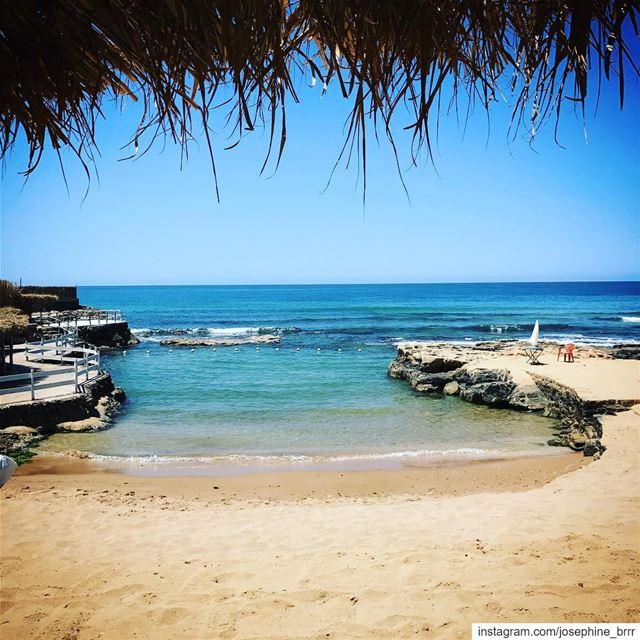 Deep blue....... beach lebanon hideway beirut instapic ... (Lazy B)