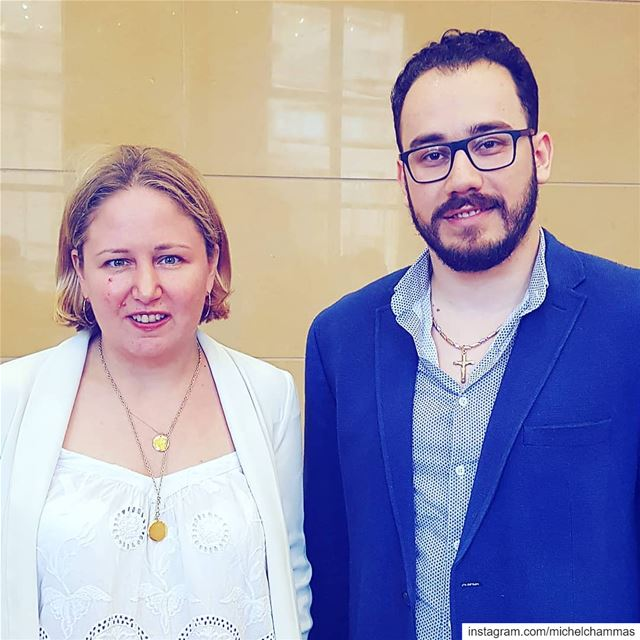 Great meeting with Mrs. Stephanie Leguay, Coordinator of the National Anti- (Beirut Bar Association)
